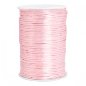 Satijn koord rond 2.5mm light rose (per meter)