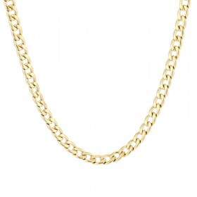 Schakelketting gourmet goud stainless steel