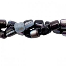 Schelp kraal tube anthracite black 4x3.5mm