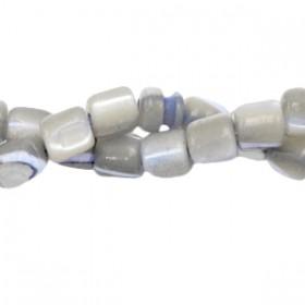 Schelp kraal tube lavender greige 4x3.5mm