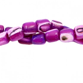 Schelp kraal tube orchid purple 4x3.5mm