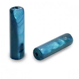 Schelpkraal tube avond blauw 14x4mm