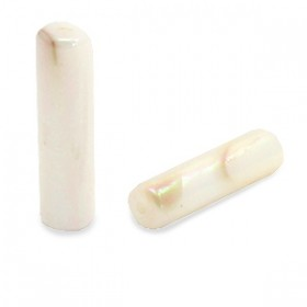 Schelpkraal tube creme beige 14x4mm