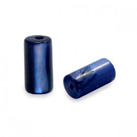 Schelpkraal tube montana blauw 8x4mm