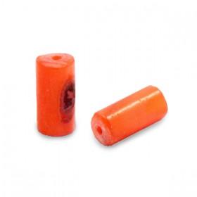 Schelpkraal tube royal oranje 8x4mm