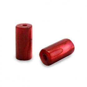 Schelpkraal tube ruby rood 8x4mm