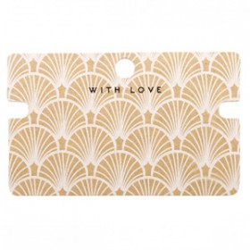 Sieraden kaartjes 'with love' Art Deco Brown smalle uitsparing