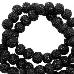 Sparkling beads black 6mm