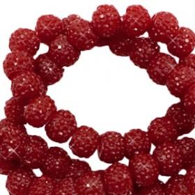Sparkling beads dark red 6mm