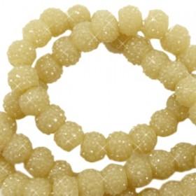 Sparkling beads mustard green 6mm