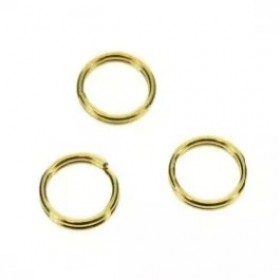 Splitring goud 5mm (per stuk)