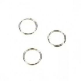Splitring zilver 5mm (per stuk)
