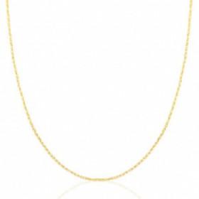 Stainless steel ketting goud 45cm