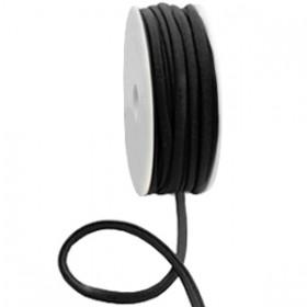 Stitched elastisch lint ibiza black (per 25cm)