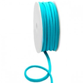 Stitched elastisch lint ibiza blue zircon (per 25cm)