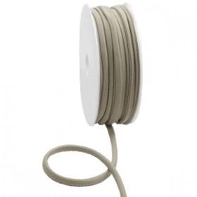 Stitched elastisch lint ibiza metallic taupe (per 25cm)