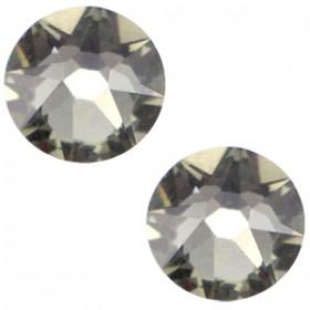 Swarovski platte steen SS34 flatback xirius rose black diamond