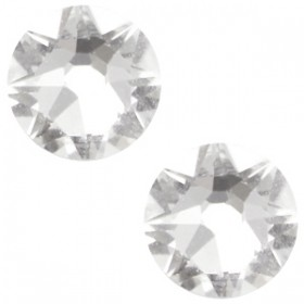 Swarovski platte steen SS34 flatback xirius rose crystal