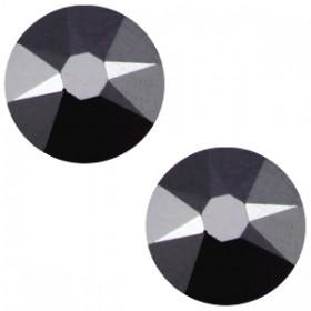 Swarovski platte steen SS34 flatback xirius rose jet hematite zwart