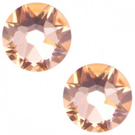 Swarovski platte steen SS34 flatback xirius rose light peach