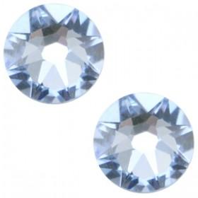 Swarovski platte steen SS34 flatback xirius rose light sapphire