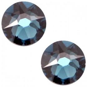 Swarovski platte steen SS34 flatback xirius rose montana blue