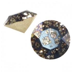 Swarovski puntsteen SS24 crystal black patina