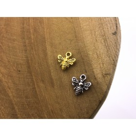 Karma symbols bee 925 sterling zilver en goldplated (per stuk)