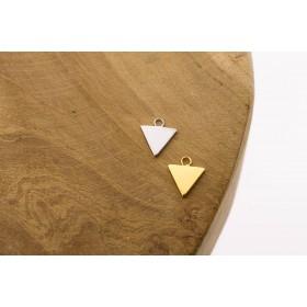 Karma symbols triangle 925 sterling zilver en goldplated 10mm (per stuk)