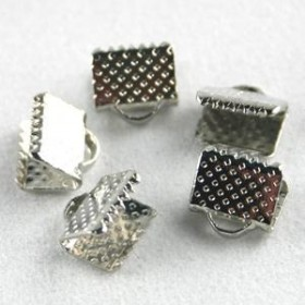 Veterklem / lintklem 12mm zilver