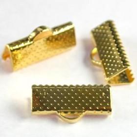 Veterklem / lintklem 15mm goud