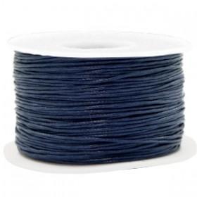 Waxkoord 1mm dark blue per meter