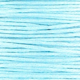 Waxkoord 1mm light blue per meter