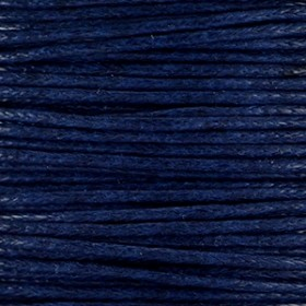 Waxkoord 1mm midnight blue per meter