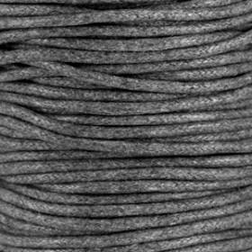 Waxkoord 2mm grey per meter