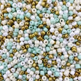 Glaskralen rocailles 8/0 3mm rond 8 gram mix 31