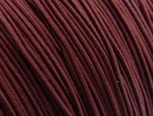 Gekleurd elastiek 0,8mm 10 meter bordeaux rood