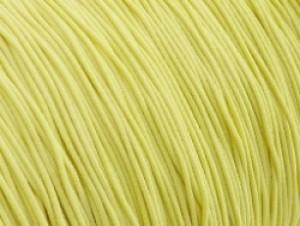 Gekleurd elastiek 0,8mm 10 meter geel