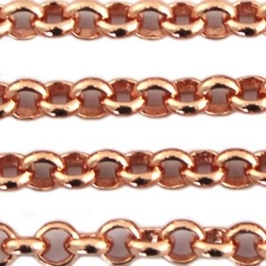 Jasseron DQ 3mm rose gold streng 1 meter
