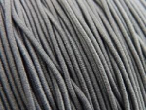 Gekleurd elastiek 0,8mm 10 meter antraciet