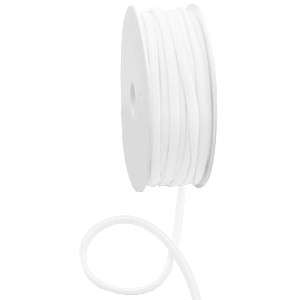 Stitched elastisch lint ibiza white (per 25cm)