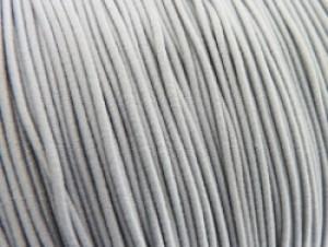 Gekleurd elastiek 0,8mm 10 meter grijs