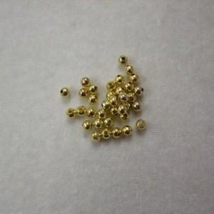 Kraal goud +/- 3.5mm zakje 20 stuks