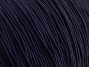 Gekleurd elastiek 0,8mm 10 meter donker blauw