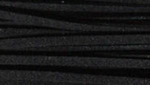 4mm suedekoord zwart stuk 90cm