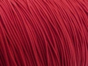 Elastiek draad rood 0.8mm