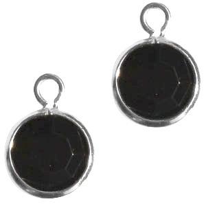DQ facethanger 10x7mm zwart zilver