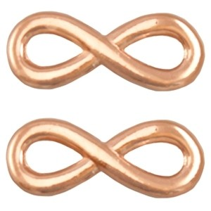 Bedel tussenzetsel DQ infinity 15x6mm rose
