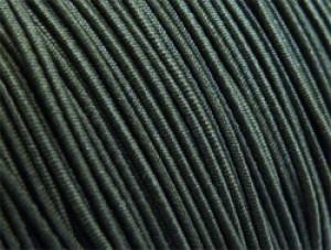 Gekleurd elastiek 0,8mm 10 meter olijf groen