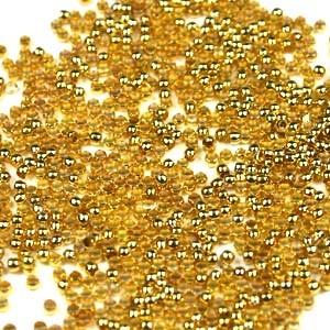 Knijpkraal 2mm goud zakje 20 stuks